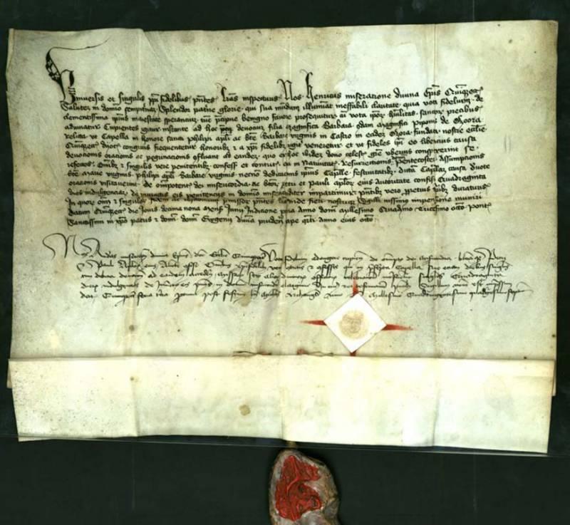 1434. IV. Jenő pápa búcsúkiváltság levele
